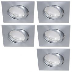 LED Einbaustrahler 5er Set Aluminium eckig 4-fach switchmo dimmbar