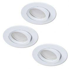 LED Einbaustrahler als 3er-Set in Weiß rund 4-fach dimmbar switchmo