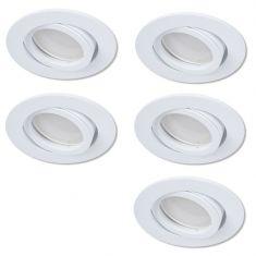 LED Einbaustrahler als 5er-Set in Weiß rund 4-fach switchmo dimmbar