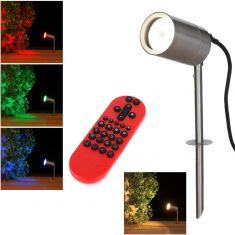 LED Erdspieß Tin Edelstahl inklusive Fernbedienung