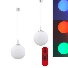 LED Kugel Pendelleuchte Lola Bolo mit RGB,CCT Fernbedienung