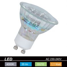 LED Leuchtmittel GU10 neutralweiß  1Watt