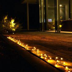 LED Lichterkette für Außen, 80 runde Dioden