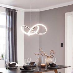 LED Pendelleuchte Indigo in chrom 44Watt