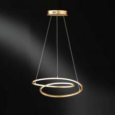 LED Pendelleuchte Loris Goldfarbig zwei Größen wählbar