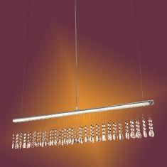 LED Pendelleuchte mit Kristallbehang - LED 12W + LED Taschenlampe