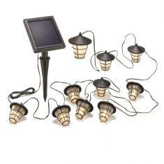 LED Solar Lichterkette Asia Style, warmweiß