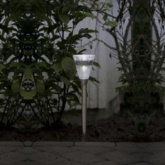 LED Solarleuchte aus Edelstahl