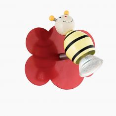 LED Spot für das Kinderzimmer mit buntem Motiv Biene, Spot  inklusive LED 3Watt  GU10, schwenkbar