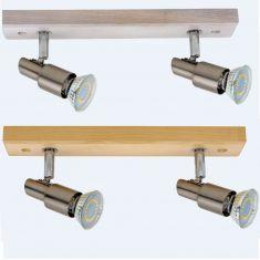 LED Strahler Classic Wood in Eiche oder Eiche weiß