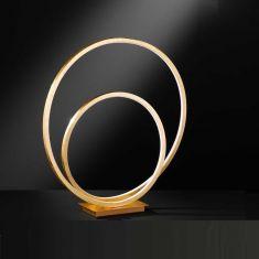 LED Tischlampe Loris Blattgold-Optik