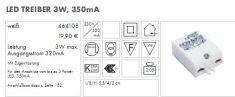 LED Treiber 230V/350mA  3W