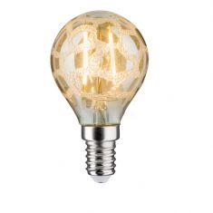 LED Tropfen 2,5 Watt E14 Krokoeis Gold 230 V Warmweiß