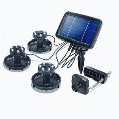 LED Unterwasser Solar-Strahler für seichtes Gewässer - 3er Set