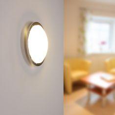 LED Wand oder Deckenleuchte Planet in chrom chrom