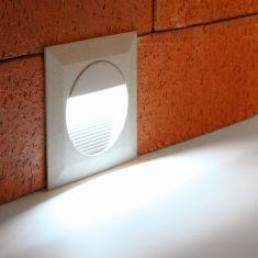 LED Wandeinbauleuchte, 14 weiße LEDs daylight, inklusive Einputzdose
