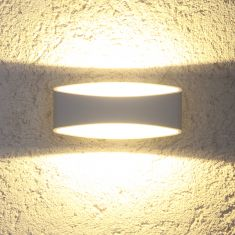LED Wandleuchte Alu weiß + Gratis Spannungsprüfer