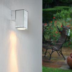 LED Wandleuchte Aluminium gebürstet mit LED 7W, 2700K