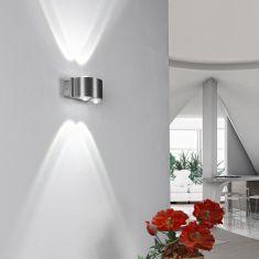 LED Wandleuchte aus Aluminium IP 44 für Innen und Außen