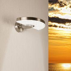 LED Wandleuchte, 350° drehbar, 3,6 Watt, Edelstahl oder Edelstahl schwarz pulverbeschichtet