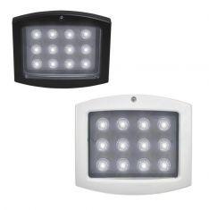 LED-Außenscheinwerfer in schwarz oder weiß, 12x1W, Lichtfarbe neutralweiß=4000K