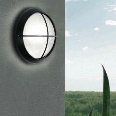 LED-Außenwandeuchte mit Strukturglas, 26 cm, weiß oder schwarz