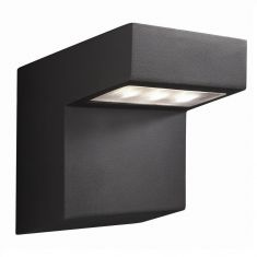 LED-Außenwandleuchte in Anthrazit, 3Watt Power LED