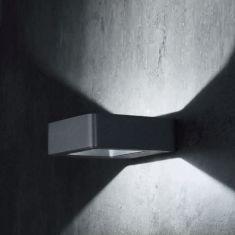 LED-Außenwandleuchte Arena eckig, 2 Farben - LED 5W