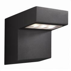 LED-Außenwandleuchte aus Aluminium Anthrazit, Downlight 3Watt Power LED, 300lm