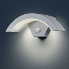 LED-Außenwandleuchte Ohio mit Bewegungsmelder in Titan 1x 6 Watt, titan