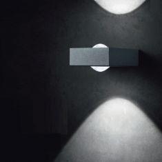 LED-Außenwandleuchte Rana, Alu-Druckguss, klare Linsen
