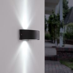 LED-Außenwandleuchte - Anthrazit - LED 4,8W 6500K