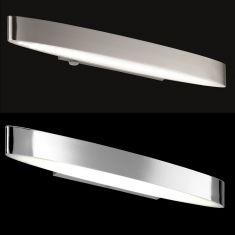 LED-Badleuchte IP44 in Nickel oder Chrom