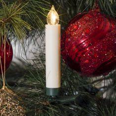 LED-Baumbeleuchtung für den Innenbereich - 5 Stück kabellose weiße Kerzen - Zusatzset