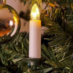 LED-Baumkette für den Innenbereich - Topbirnen - One String-Kabel - 25 warm weisse Dioden - mit Schalter