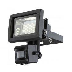 LED-Baustrahler 10Watt in grau, schwenkbar, Sensor