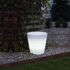 LED-Blumen- Pflanztopf mit 15 weißen LEDs - H = 28cm