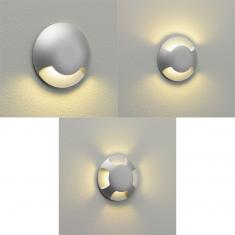 LED-Bodeneinbauleuchte rund, silber lackiert, 3 Versionen