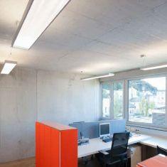 LED-Büroleuchte aus Aluminium, pulverbeschichtet in aluminium, Abstrahlung mit Direkt und Indirektanteil, 65Watt, 3000K , 6140lm, 230V