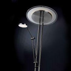 LED-Deckenfluter mit Lesearm - getrennt dimmbar