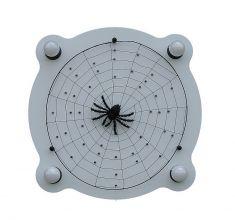 LED-Deckenlampe schwarze Wittwe, 3D-Spinne