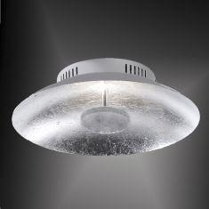 LED-Deckenleuchte 30cm in Blattsilberoptik 1x 15 Watt, silber, Blattsilber