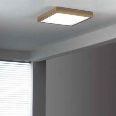 LED-Deckenleuchte 50x50cm mit Holzrahmen eiche Eiche