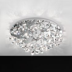 LED-Deckenleuchte Ø76,5cm, Blüten, 25-flammig