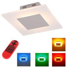 LED-Deckenleuchte Adali mit RGB und CCT und Fernbedienung