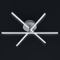 LED-Deckenleuchte Alu-gebürstet - Ø60cm - 3x 6W LED