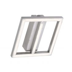 LED-Deckenleuchte aus Stahl / transparent
