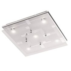 LED-Deckenleuchte Chiron in Chrom, 5 x 4,8Watt