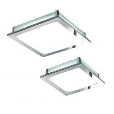 LED-Deckenleuchte in Chrom mit 18W oder 10W SMD-LED