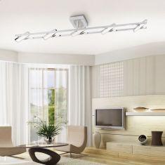 LED-Deckenleuchte Chrom 5 x 4,6 LED 3000K